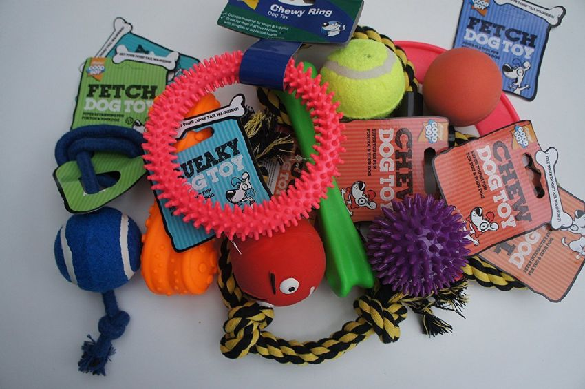 11 x ARMITAGES ASSORTED DOG SQUEAKY CHEW ROPE BALL FUN DOG PUPPY TOY FUN PACK